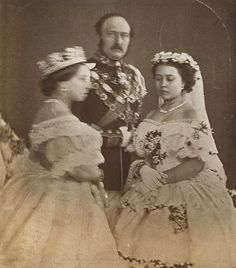1858 Queen Victoria and Prince Albert with their eldest daughter Victoria.