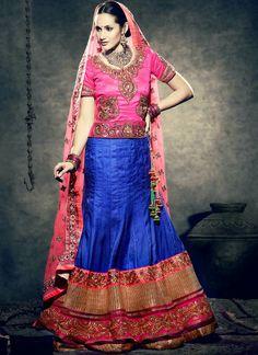 Ostentatious #Blue A Line #Lehenga #Choli