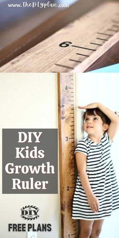 This is a very simple DIY project that could be built in one afternoon. You just need 1×6 board, stain, sharpie and adhesive numbers. This Kid's Growth Ruler could be attached to any wall and any room. I'm sure the kids will appreciate those memories when they grow up.   Creative Woodworking Ideas   Best Selling Woodprojects   Wood Working for Beginners   Home Improvement   #freeplans #diy #woodworking #diyruler #farmhousedecor #kidsproject #woodproject #farmhousestyle #carpentrydiy…