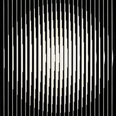 Franco Grignani, Inductive vibration, 1965 [from GARADINERVI] Design System, E Design, Design Elements, Art Optical, Optical Illusions, Garden Privacy Screen, Logo Sketches, Fashion Design Portfolio, Font Face
