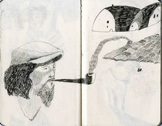 sketchbook work by Melissa Castrillon