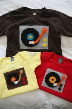 record player onesie ........a must for the new serious connoisseur of music