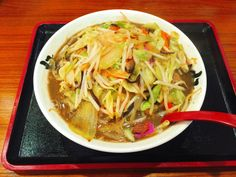 "Hakata style Champon noodles at ""Imari 伊万里"" Fukuoka Japan 25 Feb 2016 770yen lunch"