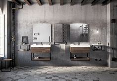 Grid, Public Bathrooms, Modern Loft, Industrial Bathroom, Elle Decor, Interiores Design, Double Vanity, Toilet, Bedroom
