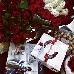 chocolate & flowers