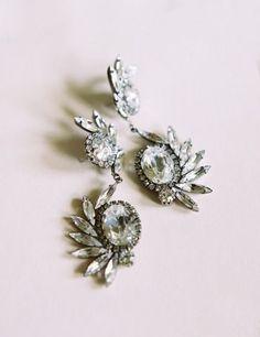 Jeweled earrings: http://www.stylemepretty.com/2014/09/29/elegant-gold-blush-southern-wedding/   Photography: Landon Jacob Productions - http://landonjacob.com/