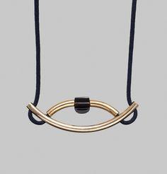 Collier Nile, avec une perle en obsidienne | Marion Vidal sur L'Exception