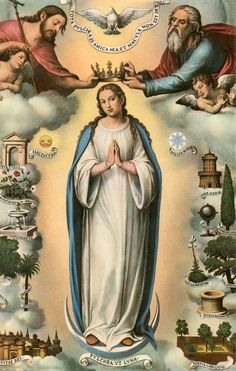 Coronation of the Blessed Virgin Mary_pious picture