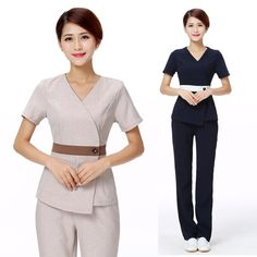 """Universe of goods - Buy """"Women's Fashion Scrubs Set/Medical Nursing Uniforms/ Beautician Spa Clothing High-quality Mujer Clinicos /Uniformes"""" for only 37 USD. Beauty Therapist Uniform, Medical Scrubs, Nursing Scrubs, Scrub Sets, Uniform Design, Nursing Uniforms, Medical Uniforms, Size Clothing, Work Wear"""