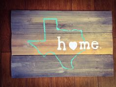 TEXAS HOME STATEART made to order by LilMissTexan on Etsy, $45.00
