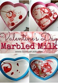 Making magic milk hearts is a fun Valentine's Day science variation on the science experiment with milk and food coloring. It's a little bit science, a little bit art, and a whole lot of fun! The perfect STEM activity for classroom parties, heart-themed science centers, Valentine's Day parties at home, or just for fun.