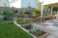 Un jardin avec un système aquaponique