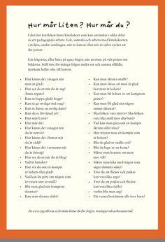 Hej på er allihop. Hoppas ni har haft en härlig jul och nyår och är laddade för ett nytt år med nya möjligheter och utmaningar. Tänkte starta detta år med ett jätte fint material som jag hittade på… Educational Activities For Kids, Social Activities, Teaching Materials, Teaching Resources, Learn Swedish, Body Preschool, Swedish Language, Social Awareness, Classroom Inspiration