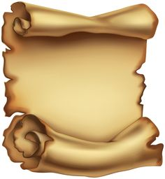 Old Scrolled Paper PNG Clip Art Image