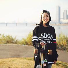 This South Korean Long Board Skateboarder Girl is Going Viral | Koogle TV