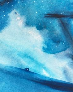 Detail from one of the paintings in the new collection  #watercolourskiescollection