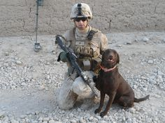 USMC Corporal Shane Hall & his IED Dog Weezy, on patrol in Helmand Province, Afghanistan (2012) with 2nd Battalion, 4th Marines, Golf Company, Camp Pendleton, CA . Very proud of my son and all our troops!