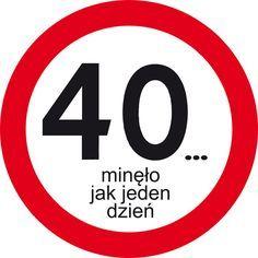 Znak drogowy na urodziny