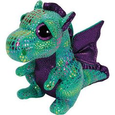 TY BEANIE BOOS DRAGON VERDE 15 - TY PELUCHES