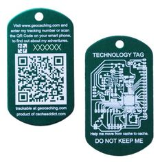 Back in stock!  3 colors available!  QR Tech Trackable Tag - $5.99 @ shop.geocaching.com