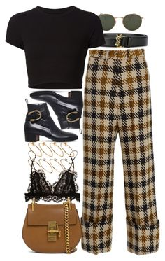 """Untitled #10914"" by nikka-phillips ❤ liked on Polyvore featuring Isabel Marant, Yves Saint Laurent, ASOS, Sea, New York, Ray-Ban, Getting Back To Square One, Gucci and Chloé"