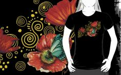 Feel the need for something different to wear? Want to express your floral fabulosity? Iceland Poppies on Golden Spirals by Cherie Roe Dirksen Cool Outfits, Fashion Outfits, Spirals, Cool Tees, Laptop Sleeves, Iceland, Poppies, Gifts For Her, Classic T Shirts