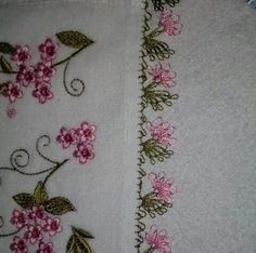 This Pin was discovered by Yas Cross Stitch Embroidery, Embroidery Patterns, Hand Embroidery, Needle Tatting, Needle Lace, Decorative Towels, Lacemaking, Crochet Borders, Crochet Designs
