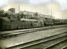 The armored train 'Zaamurets', captured by a Czechoslovakian legion in Simbirsk, July 1918.