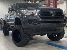 "2021 Toyota Tacoma - 20x12 -44mm - Hardrock Crusher H704 - Suspension Lift 6"" - 33"" x 12.5"""
