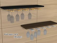 The Sims 4 | tamamaro wine glasses & racks | buy mode surfaces new objects misc deco display
