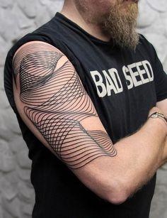 Chaim Machlev DotsToLines tattoo