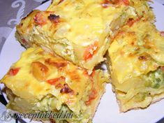 Indián torta Hungarian Recipes, Hungarian Food, Greek Recipes, Fruits And Vegetables, I Foods, Quiche, Main Dishes, Food And Drink, Cooking Recipes