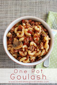 One Pot Goulash - pure comfort food! The whole family will love this dish!