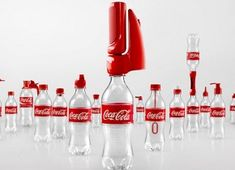 coca-cola campaign gives old bottles lives' with 16 functional caps. Nice to see encouragement of reusage. Coca Cola Bottles, Hot Sauce Bottles, Empty Bottles, Plastic Bottles, Garrafa Coca Cola, Funny Billboards, Ogilvy Mather, Communication Art, Coco