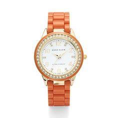 Anne Klein: Watches > Diamonds & Crystals > Orange Bracelet Watch