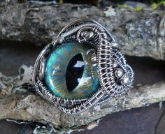Gothic Steampunk Sterling Silver Evil Eye by twistedsisterarts