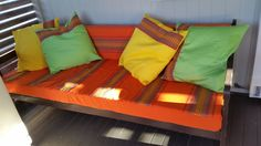 Recovered the old daybed and made cushions
