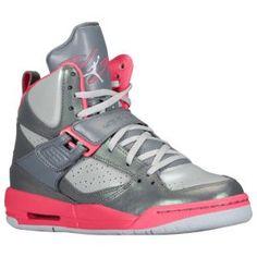 Jordan Flight 45 High - Girls' Grade School - Dynamic Pink/White/Metallic Platinum $89.99 ~Footlocker