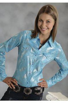 Roper Shiney Swirl Printed Shirt Five Star- Fresh Palette Long Sleeve Urban