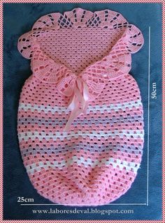 receita de saco de dormir para bebe em croche grafico - Pesquisa Google