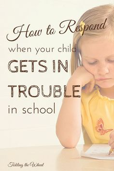 The last thing every parent wants is to hear that their child is misbehaving in school. But how do you respond when your child gets in trouble in school? These are great tips from a mom and teacher.