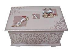 caja decorativa vintage tcnicas mixtas en madera de mis manos pinterest vintage