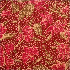batik more patterns indonesian batik patterns textiles red flower ...