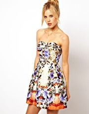 Bandeau Mirror Floral Dress