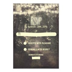 Discount DealsTrees and night lights wedding RSVP cardsyou will get best price offer lowest prices or diccount coupone