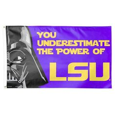 NCAA Lsu Tigers Deluxe Flag, Purple/Gold