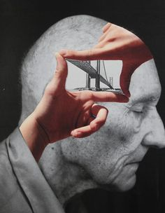 framing a thought. original collage by bricolagelife 2014 via Alexandr Chayka Collages, Photomontage, Psychedelic Art, Mixed Media Collage, Collage Art, Illustrations, Illustration Art, Matthieu Bourel, Art Graphique