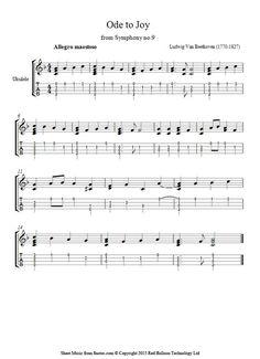 Beethoven - Theme from Ode to Joy sheet music for Ukulele