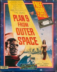 Plan 9 from Outer Space posters for sale online. Buy Plan 9 from Outer Space movie posters from Movie Poster Shop. We're your movie poster source for new releases and vintage movie posters. Horror Vintage, Retro Horror, Sci Fi Horror, Tv Movie, Sci Fi Movies, Old Movies, Vintage Movies, Movie Theater, Posters Vintage