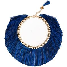 Rosantica Atena fringed gold-tone necklace found on Polyvore featuring jewelry, necklaces, accessories, gold, gold tone jewelry, fringe jewelry, gold colored necklace, rosantica and rosantica jewelry